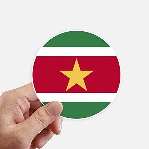 DIYthinker Suriname Nationale Vlag Zuid-Amerika Land Ronde Stickers 10 Cm Wandkoffer Laptop Motobike Decal 8 Stks