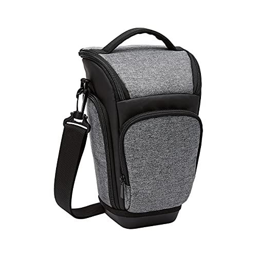 Amazon Basics Holster DSLR Camera Case, 7 x 11 x 6 Inches (Gray and Black)