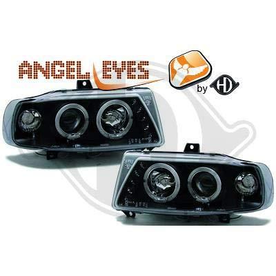 7423480 - Par de faros delanteros de ángel Eyes, color negro, para Ibiza/Cordoba/Vario 6K de 1993 a 1999