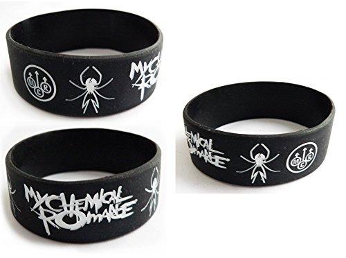 My Chemical Romance Logo Silicone Rubber Wrist Band Wristband