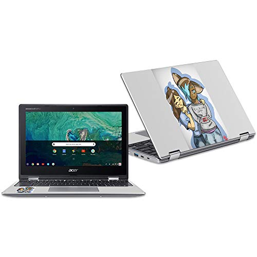 """MightySkins Skin Compatible with Acer Chromebook Spin 11"""" CP311 - Best Friends   Protective, Durable, and Unique Vinyl Decal wrap Cover   Easy to Apply, Remove, and Change Styles   Made in The USA"""