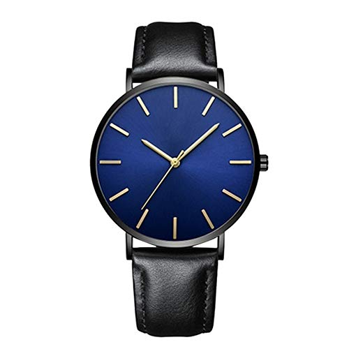Unisex Wrist Watch - Leather Classic Watches - Quartz Business Stainless Steel Analog Watch for Women Men (B1)