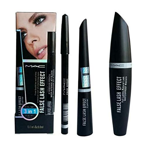 Grace & Elegance Mac 3 in 1 Eyeliner-Mascara-Eyebrow Pencil Set