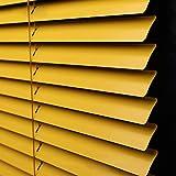 Persianas venecianas Aluminio Amarillo, Protección contra Luz Y Deslumbramiento, Montaje En Pared Y Techo, Kit De Montaje Incluido, 100cm / 120cm / 130cm De Ancho