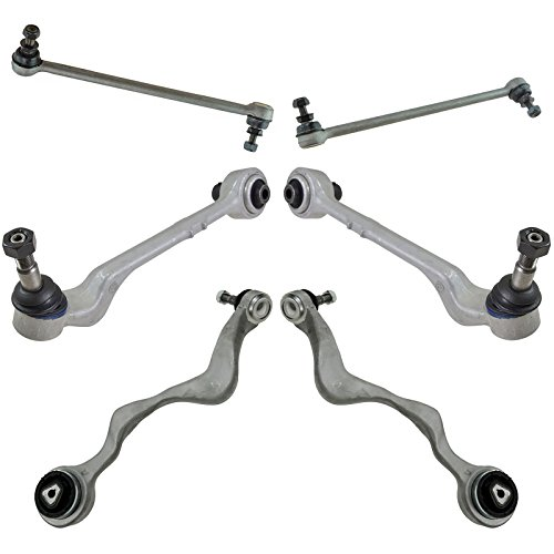 6 Piece Suspension Kit Front Forward & Rearward Control Arms w/Sway Bar Links