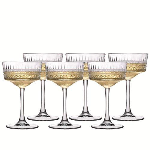 PASABAHCE 471504 Elysia Confezione 4 Coppe Champagne, Vetro, Trasparente, 26 Cl