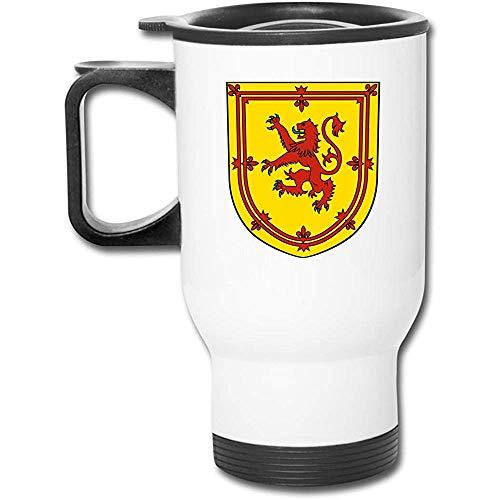 Schottischer Flaggen-Löwe-Edelstahl-Isolierreisebecher mit Deckel-Ladeschalen-Isolierkaffeetasse