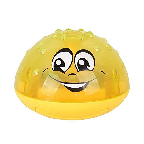 SELUXU Juguete de Bola de rociador, baño eléctrico de Agua de Agua baño de bebé Juguete de Piscina de Verano, Juguetes de baño Flotante con luz para niños pequeños niños niñas