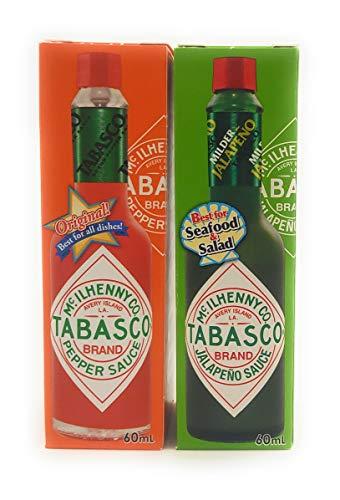 【アソート】「タバスコ ペパーソース 60ml」+「タバスコ ハラペーニョソース 60ml」各1本 計2本【味比べ・お試し・セット品・まとめ買い】