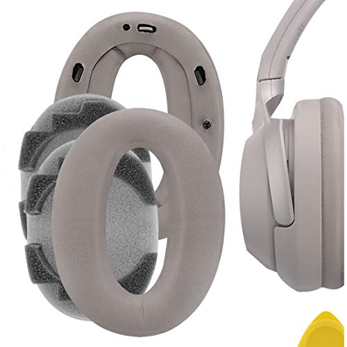 Geekria QuickFit Protein Leather Replacement Ear Pads for Sony WH-1000XM2, MDR-1000X Headphones Earpads, Headset Ear Cushion Repair Parts (Champagne Gold)