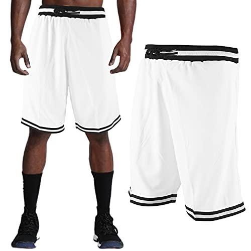 FOLOSAFENAR Pantalones Cortos para Hombre, Pantalones Cortos de Entrenamiento con Cintura elástica, diseño de cordón para Entrenamiento de Verano para Hombre para Correr(XL)