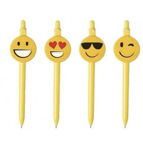 DISOK Lote de 50 Bolígrafos Emoticonos - Bolígafos Emojis Intanfiles Niños y niñas Divertidos y Originales para Regalos de Bodas, Fiestas de Cumpleaños, Guarderías y Colegios