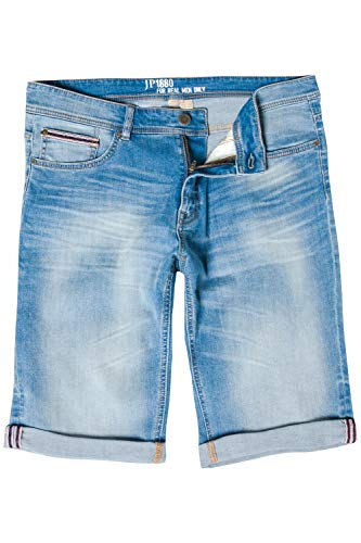 JP 1880 Herren große Größen bis 66, Bermuda, kurze Jeans Hose, Denim-Shorts, Superstretch, 5-Pocket-Form, Used-Look bleached denim 66 714441 92-66