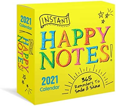 2021 Instant Happy Notes Boxed Calendar 365 Reminders to Smile and Shine Happiness Daily Calendar product image