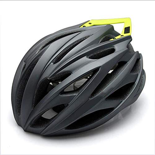 Casco Da Bicicletta, Certificato CE New Casco Bici Da Strada City Bike Sports Safety Casco Da Equitazione Leggero Portatile Casco Ciclismo Casco,Grigio