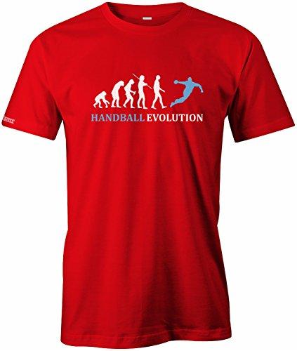 Jayess Handball Evolution - Sport - Handballer - Herren T-Shirt in Rot by Gr. M