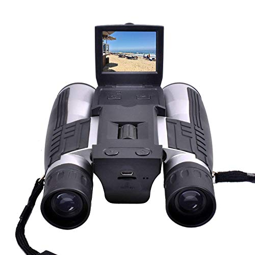 Binoculars Camera,CamKing FS608 720P Digital Camera Binoculars Camera with 2' LCD Display 12x32 Folding Prism Digital Binoculars with Camera Video Great for Bird Watching Concerts and Sports Games