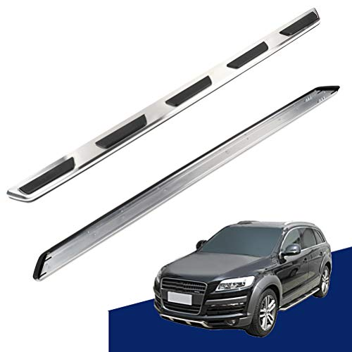 ECCPP Running Boards Fit for Audi Q7 2007 2008 2009 2010 2011 2012 2013 2014 2015 Aluminum Alloy + ABS Plastic Cement Side Steps Nerf Bars 2 Pieces