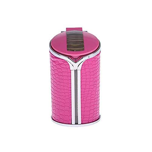 Cenicero de coche con tapa multifunción fácil de limpiar adecuado para el hogar bar oficina y coche ktv, rosa (Negro) - BSX1979