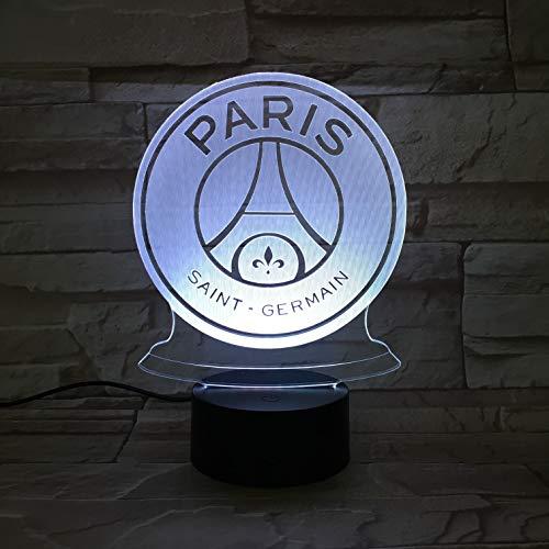 WoloShop Lampara LED Paris Saint Germaine Cambia Color USB Luz Nocturna