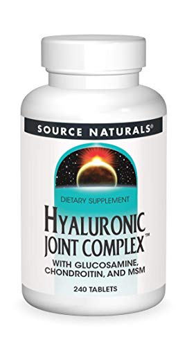 Source Naturals Hyaluronic Joint Complex with Glucosamine, Chondroitin & MSM Extra Strength - 240 Tablets