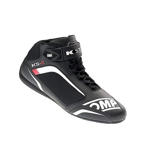 OMP OMPIC/81227344 Ks-2 Schuhe Schwarz/Weiß/Rot Größe 44