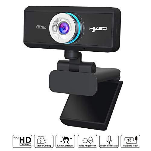 Linbing123 Cámara Web HD 720P Gigante De Cámaras De 360 Grados De Rotación, Una Función De Micrófono De Alta Definición De Absorción De Sonido De 1280 X 960 Cámara Web USB, Compatible con USB 3.0