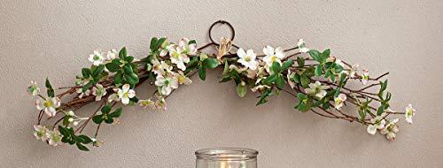 Blumengesteck Kirschblüte, 66 cm lang, Hängegesteck, Deko-Gesteck, Kunstblumen zum Aufhängen an Wand & Tür