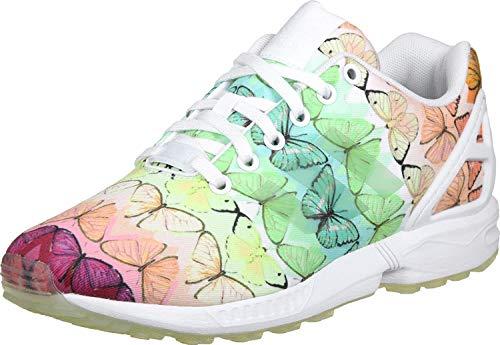 adidas Stan Smith W von Adidas, Damen-Tennisschuhe, damen, BA7644, white - green - orange, 37 1/3