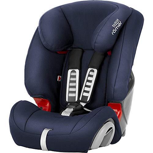 BRITAX RÖMER Kindersitz EVOLVA 1-2-3, Komfort und Flexibilität für Kinder von 9 - 36 kg (Gruppe 1/2/3), 9 Monate bis 12 Jahre, Moonlight Blue