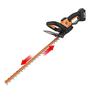 WORX WG261 20V Power Share 22-Inch Cordless Hedge Trimmer, Battery and Charger Included,Black and Orange