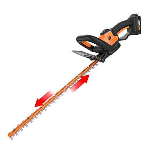 WORX WG261 20V Power Share 22-Inch Cordless Hedge Trimmer with Battery and Charger