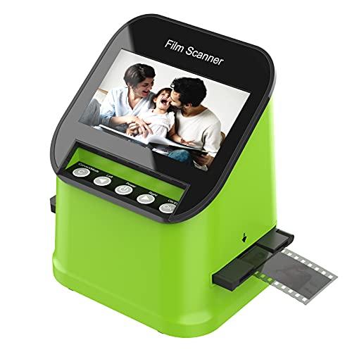 Pantalla TFT LCD de 4.3 pulgadas, escáner de película con escáner de diapositivas de alta resolución de 22MP, puede convertir películas, diapositivas y negativos de 35 mm, 110 y 126 y Super 8 a JPEG