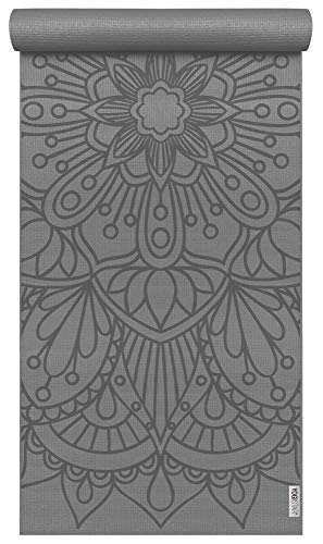 Yogistar Yogamatte Basic Art Collection Lotus Mandala Graphite