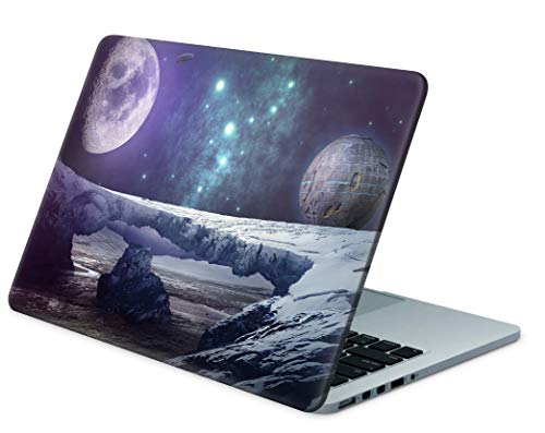 Skins4u Folie Sticker Skin Vinyl Aufkleber mit farbenfrohen Motiven für bis 17.3 Zoll 42x30cm Laptop Skin Decal Cover Future