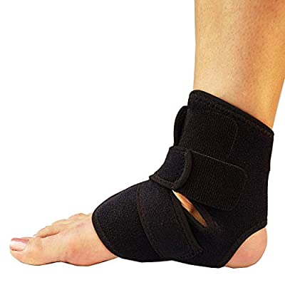 RiptGear Ankle Brace for Women and Men - Adjustable Ankle Support and Compression for Sprained Ankle – Ankle Stabilizer for Running, Basketball, Volleyball, Sports (Large)