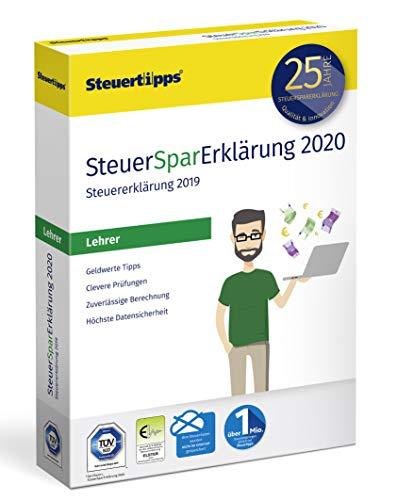 SteuerSparErklärung für Lehrer 2020, Schritt-für-Schritt Steuersoftware für die Steuererklärung 2019, Steuer CD-Rom für Windows 10, 8