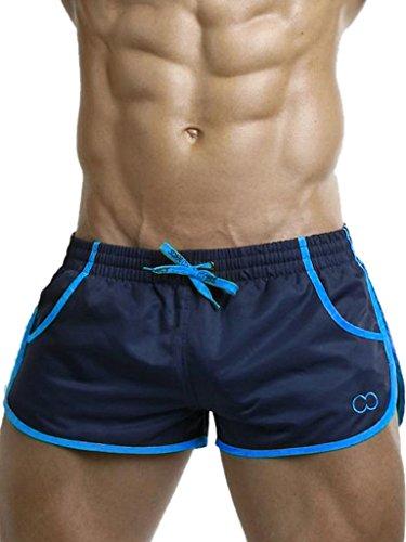 2EROS Herren Icon Dark Navy/Blue L (Zyzz Shorts, Blau (Blau 009), Large