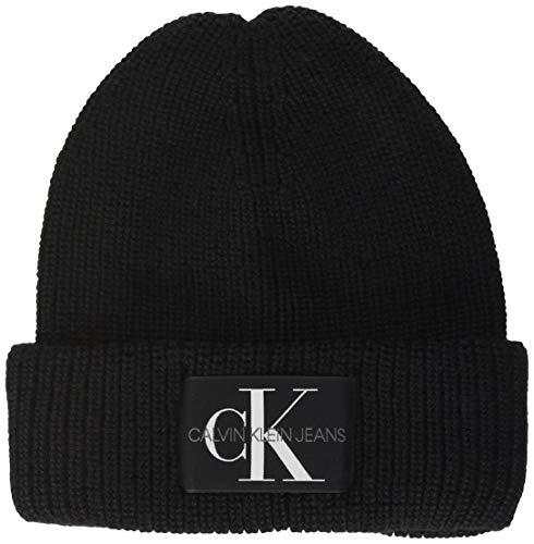 Calvin Klein Damen Beanie Hut, Schwarz, Einheitsgröße