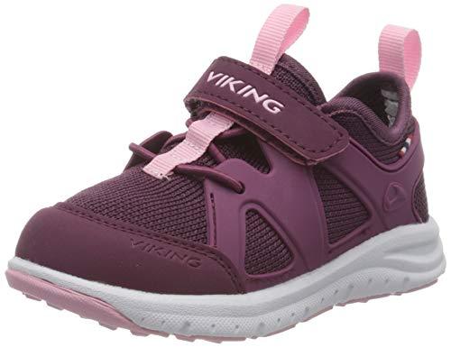 viking Unisex-Kinder Moholt Hohe Sneaker, Pink (Bordeaux/Pink 709), 33 EU
