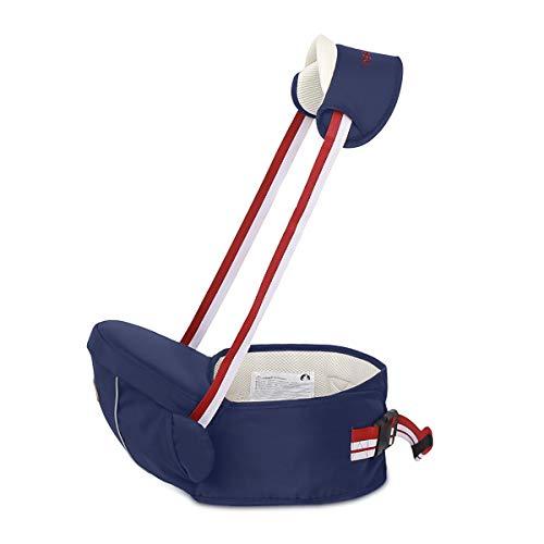 SONARIN Multifunktionaler Hipseat Baby Carrier Babytrage,Freie Größe,Kleinkind-Hüft-Sitzträger,Vorderer Träger-Gurt,4 tragende Positionen,ideales Geschenk(Dunkelblau)
