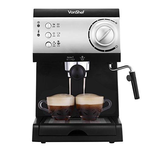 Von Shef Electric Automatic Espresso and Cappuccino Coffee Maker Machine review