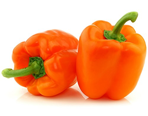 30+ Giant Orange King Bell Sweet Pepper Seeds, Heirloom Non-GMO, Blocky, Large,...