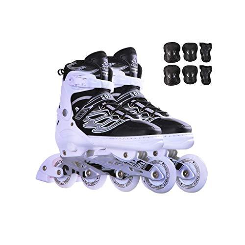 Taoke Inline-Skates, Erwachsene einreihig Skates Professionelle Männer und Frauen Adjustable Skates Full Set Voll Flash (Farbe: # 2, Größe: Extra große Modelle (42-45yards)) dongdong