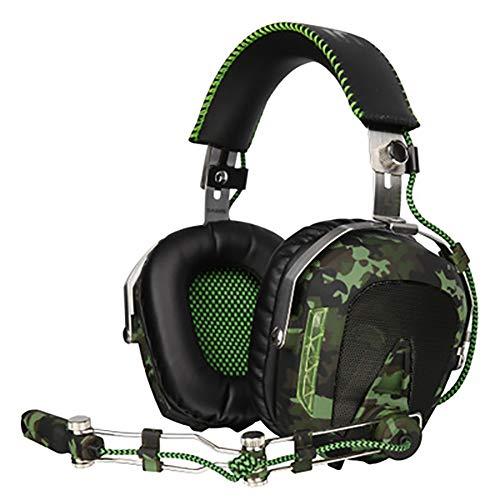GBHN Casque de Jeu, pour PS4 sur PC Xbox One, avec séparateur de Fil de Microphone réglable de 3,5 mm, réduction du Bruit, adapté à la Tablette Mobile pour Ordinateur Portable Mac