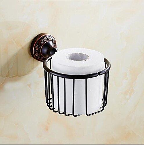 Le nouveau Bad-Accessoires Sucastle,bronze noir rayonnage porte-serviettes en papier serviettes en papier Panier Panier porte papier bac à papier rouleau style européen ancien