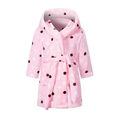 Bademantel für Jungen und Mädchen, Fleece, Nachthemd, Nachtwäsche für...