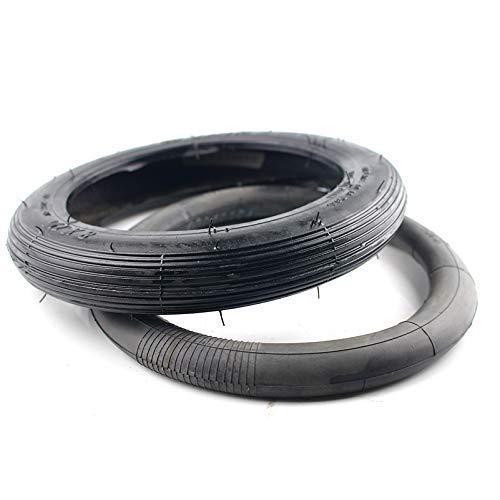 Neumáticos para patinetes eléctricos, 8 pulgadas 8X1 1/4 Juego de neumáticos y tubos interiores para patinetes Válvula doblada Se adapta a una bicicleta plegable Neumático para patinete eléctrico
