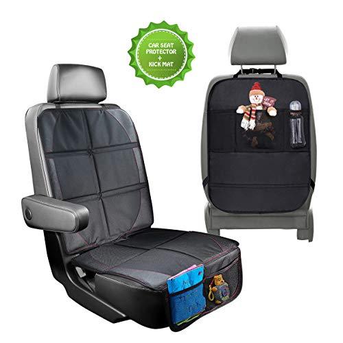 rutschfest von SMARTPEAS/® pflegeleicht und sicher Kindersitzunterlage in Schwarz inkl geeignet f/ür Isofix hochwertiger Autositzschoner in universeller Passform 1 GRATIS Trittschutz