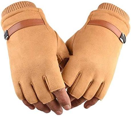 Men Women Fitness Ladies Hand Wrist Warmer Winter Fingerless Thicken Hot Gloves Mitten Female Moto Gloves Without Finger - (Color: ND)